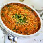Estofado dulce de garbanzos con verduras