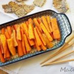 Healthy carrot and sweet potato snack