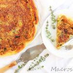 Quiche de tofu y verduras