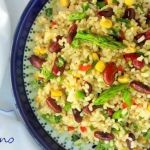Refreshing rice and red beans salad