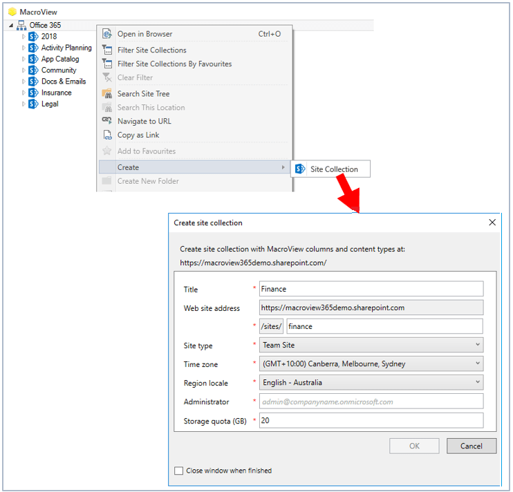 Provisioning SharePoint for Document and Email Management