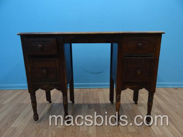 Antique Wood Desk Macs Bids