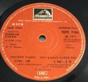 Dharam Karam Hindi Film EP vinyl Record by R D Burman www.macsendisk.com 2