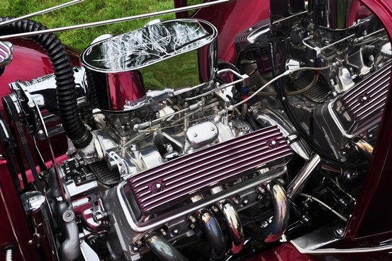 Jackman Brothers 1932 Ford Sport Coupe engine detail