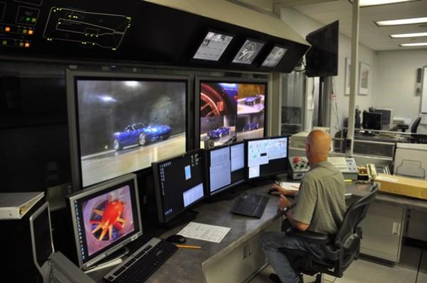 General Motors Aerodynamic Laboratory control room