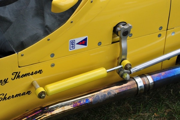 Robert Sirna 1958 Kurtis 500H steering detail