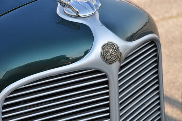 Sam Mann 1930 Chrysler Gold Seal Special grille detail