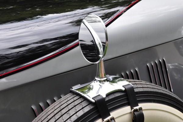 Sidemount mirror George Glaze 1930 Auburn Speedster