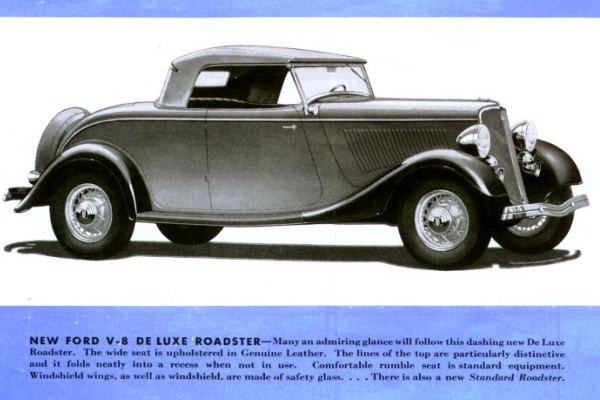 1933 Ford V8 Deluxe Roadster rendering