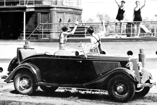 1934 Ford Roadster with swimmers