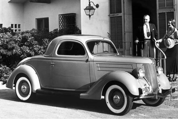 1936 Ford Three-Window Coupe porch
