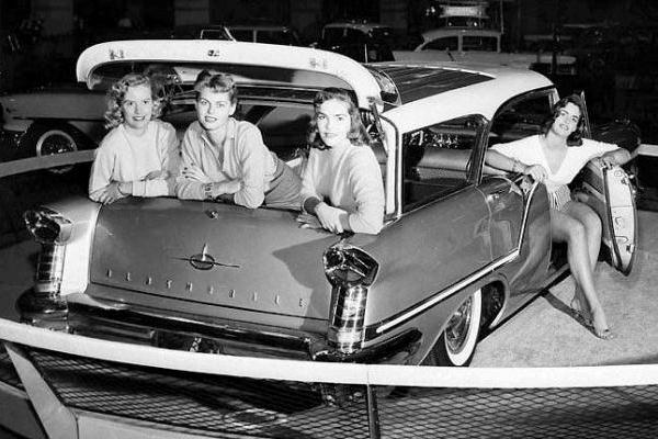 1957 Oldsmobile 88 Fiesta wagon with four models