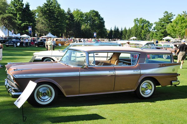 Frank and Elaine Wrenick 1958 AMC Ambassador Station Wagon left
