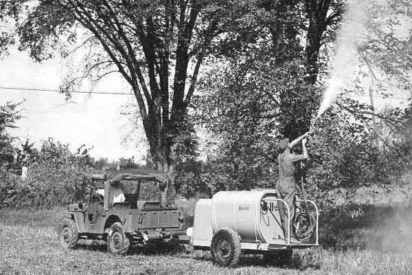 1945 Jeep insecticide sprayer
