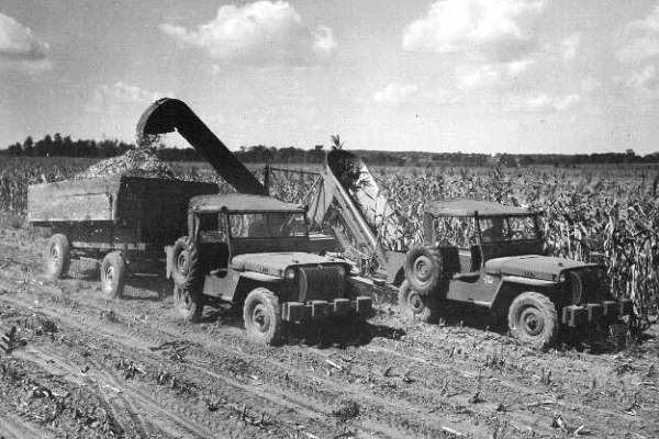 Willys Jeep on the farm 1945 demonstration