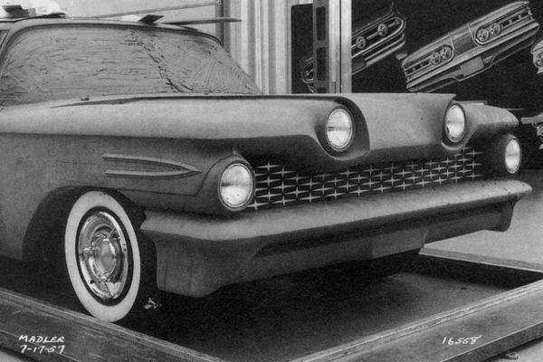 1959 Pontiac clay model July 1957