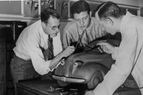 Pontiac clay scale model circa 1936