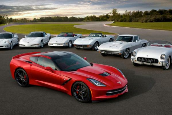 2014 Corvette Stingray seven generations