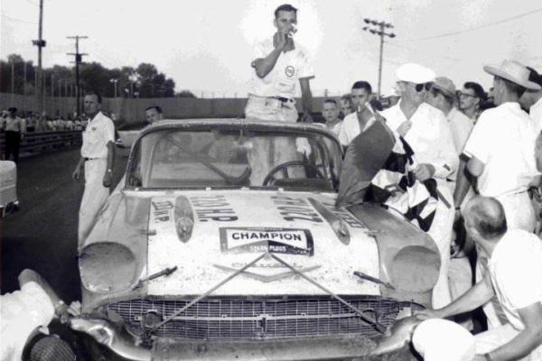 Joe Lee Johnson 1957 Chevrolet victory lane Nashville