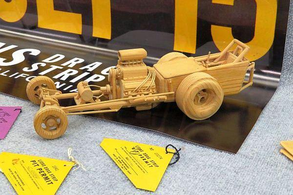 Memorabilia - vintage wooden dragster