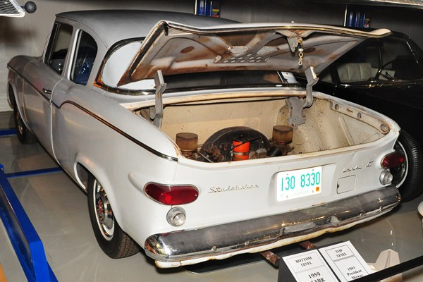 1959 Studebaker Lark Curtiss-Wright test mule Porsche rear engine