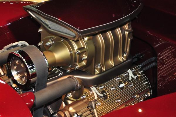 blown flathead Ford V8 left side