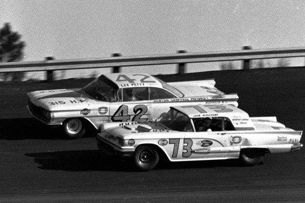 1959 Olds Lee Petty 1959 Thunderbird Johnny Beauchamp