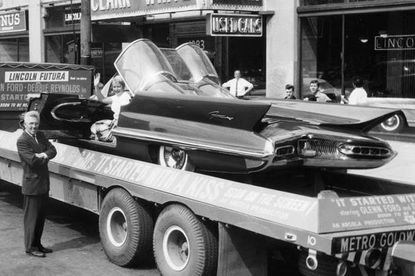 1955 Lincoln Futura on truck