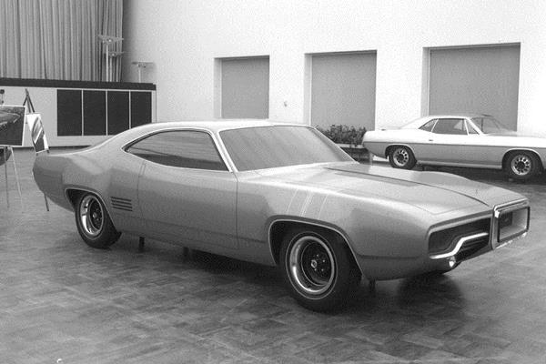 1971 Plymouth Satellite study Feb. 1968
