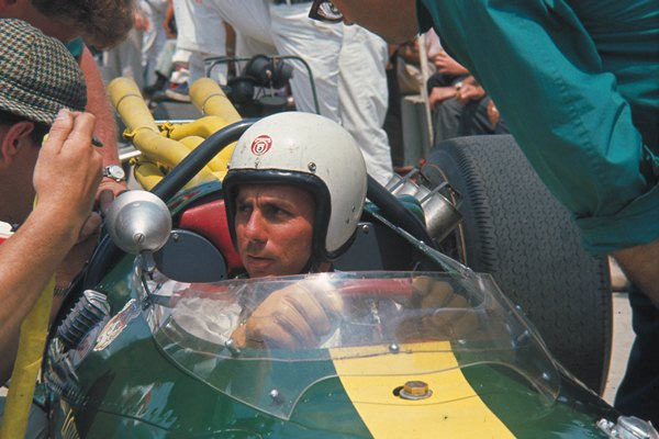 Bobby Johns Lotus Ford cockpit 1965