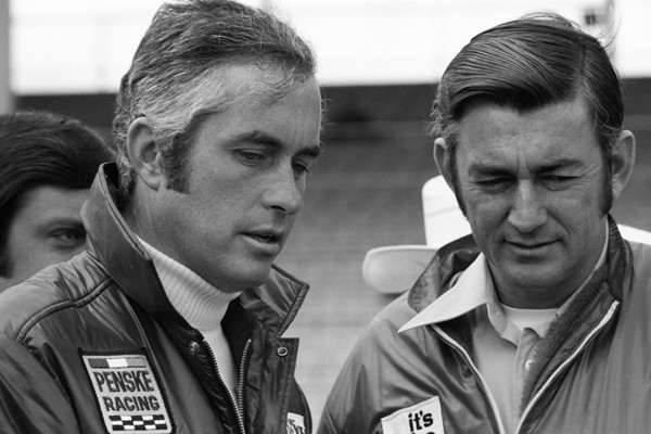 Roger Penske and Bobby Allison 1973