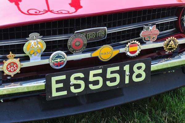 1976 Triumph TR6 Richard Arend grille badges