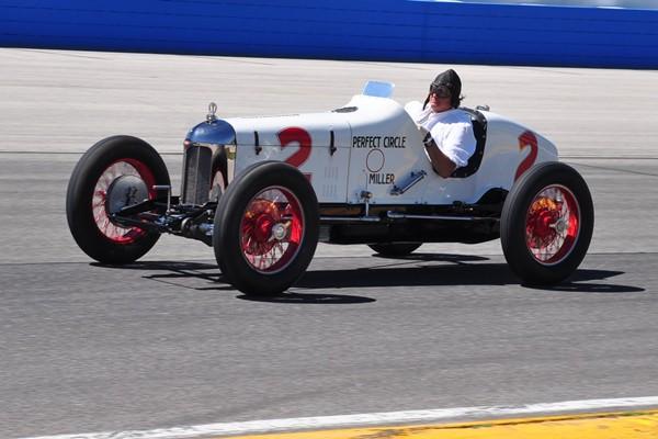 1926 Miller 91 Tom Barbour on track