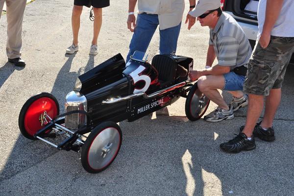 Miniature Miller in paddock builder Bob Manhart
