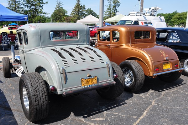 Two Model A Coupe Highboys