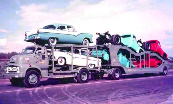 Car carriers of yesteryear mac 39 s motor city garage for Motor city car dealership