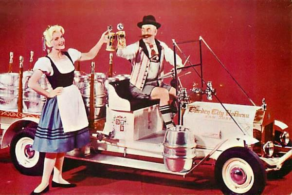 Garden City Hofbrau beer wagon