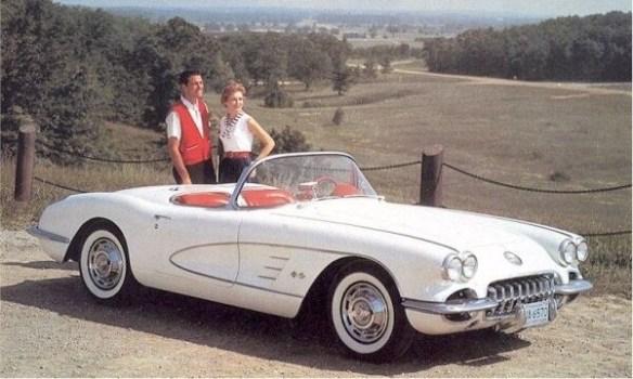 1959 Corvette white red