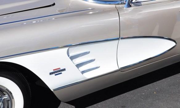 1961 Corvette left cove beige white