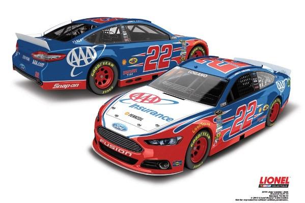 Joey Logano 22 AAA Ford
