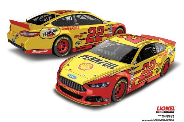 Joey Logano 22 Shell Pennzoil Ford
