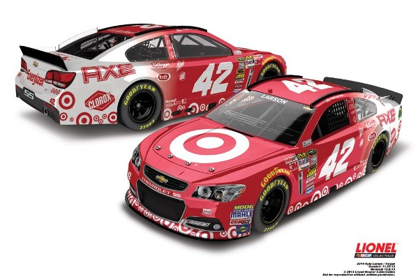 Kyle Larson 42 Target Axe Chevrolet