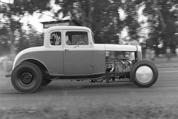 1932 Ford 5W drag coupe Potvin blower
