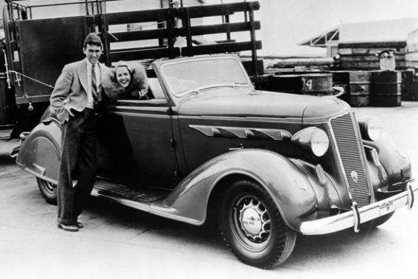 1936 DeSoto Airstream Jimmy Stewart & Wendy Barrie