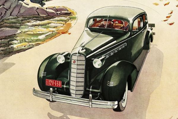 1936 LaSalle Two-Door Touring Sedan