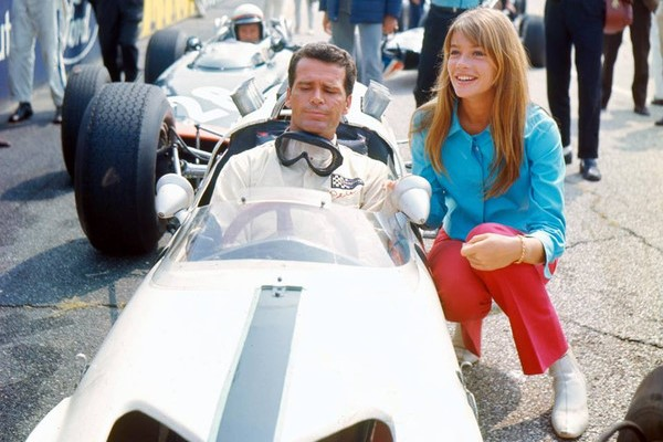with Francoise Hardy in Grand Prix