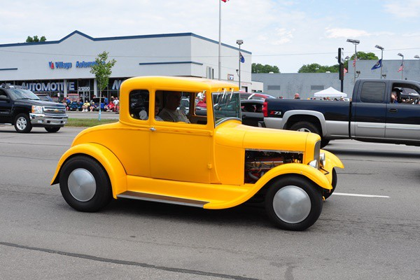 Ford Model A Coupe yellow