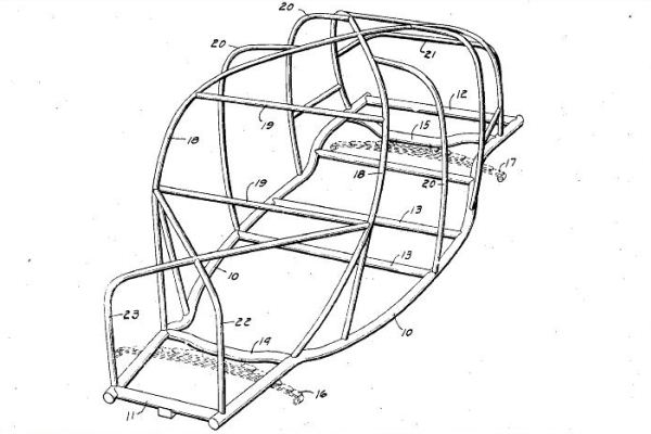 Soybean car tube frame patent drawing