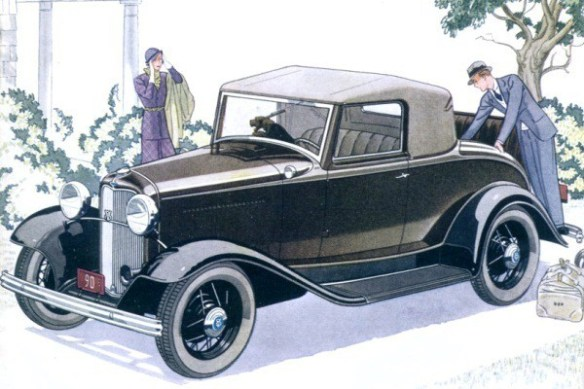 1932 Ford B-68 V8 Deluxe Cabriolet watercolor