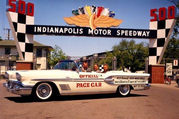 1958 Pontiac Bonneville Convertible Indianapolis 500 pace car gate